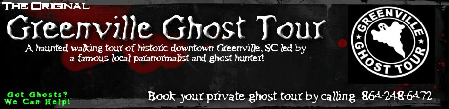 Greenville Ghost Tour banner