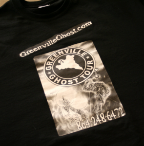 Get your souvenir Tshirt to show folks you survived the Greenville Ghost Tour