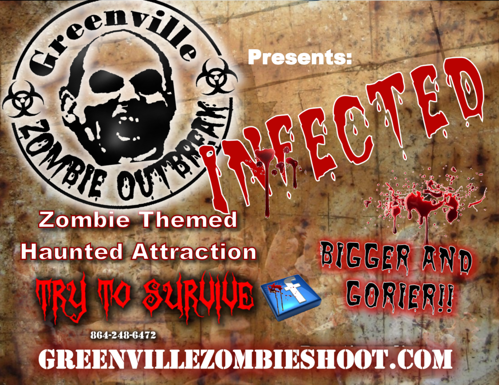 Greenville Zombie Outbreak haunted trail 2016