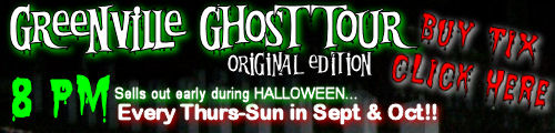 Greenville ghost tour 2014 schedule